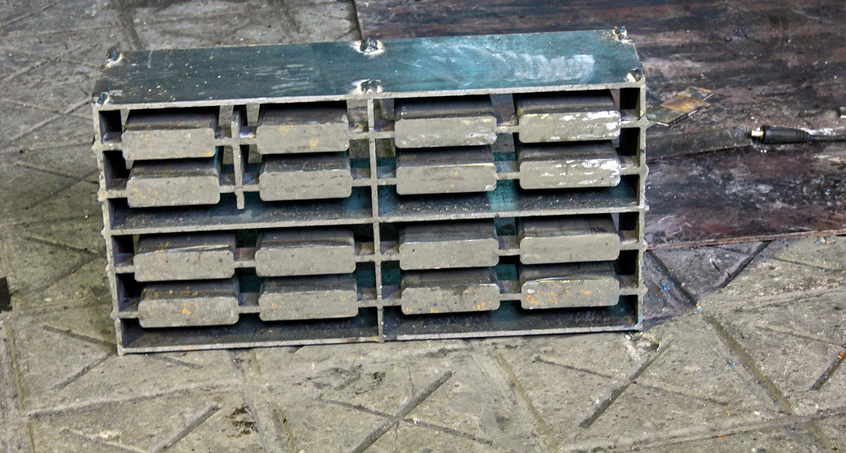 форма для керамзитобетонных блоков