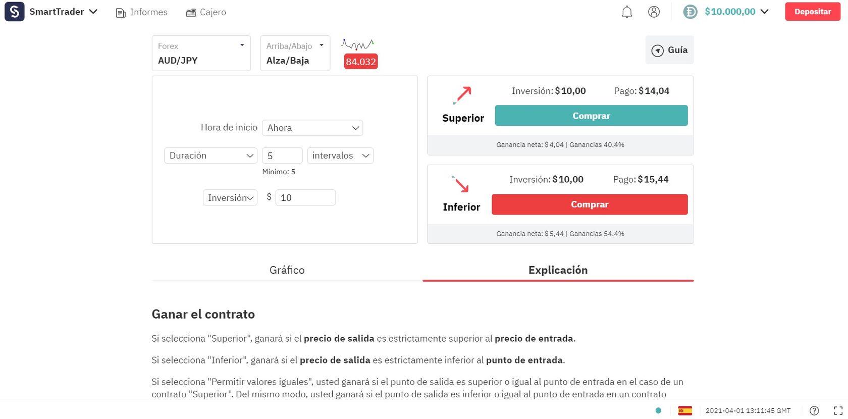 Meta Trader 5 platform interface