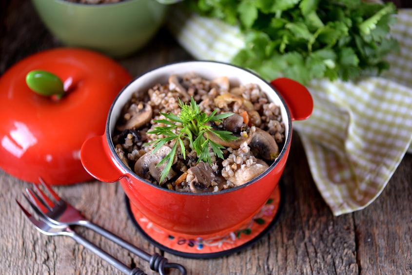Био елда Krina с пилешко месо и печурки