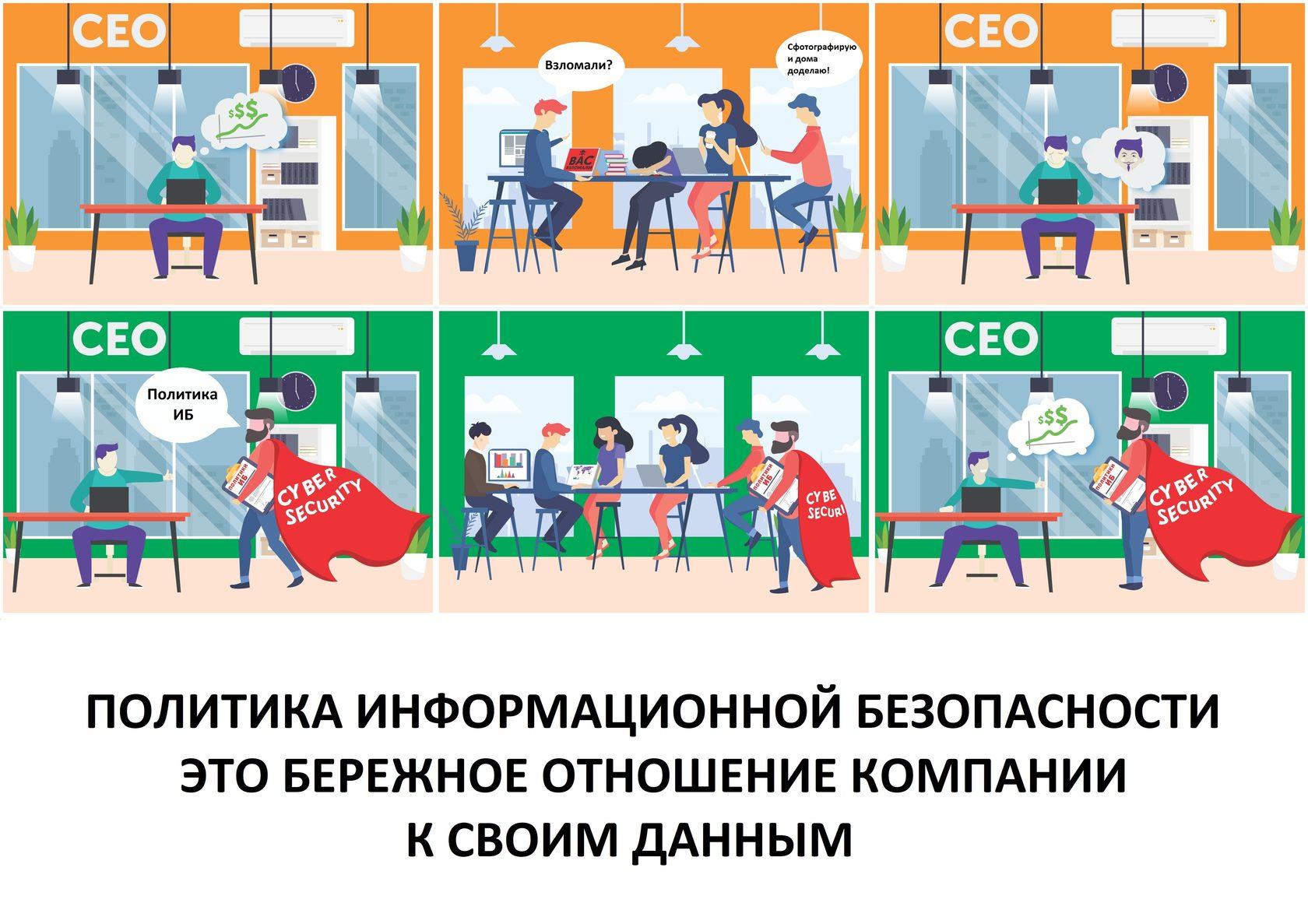 Иллюстрации по информационной безопасности. Политика информационной безопасности