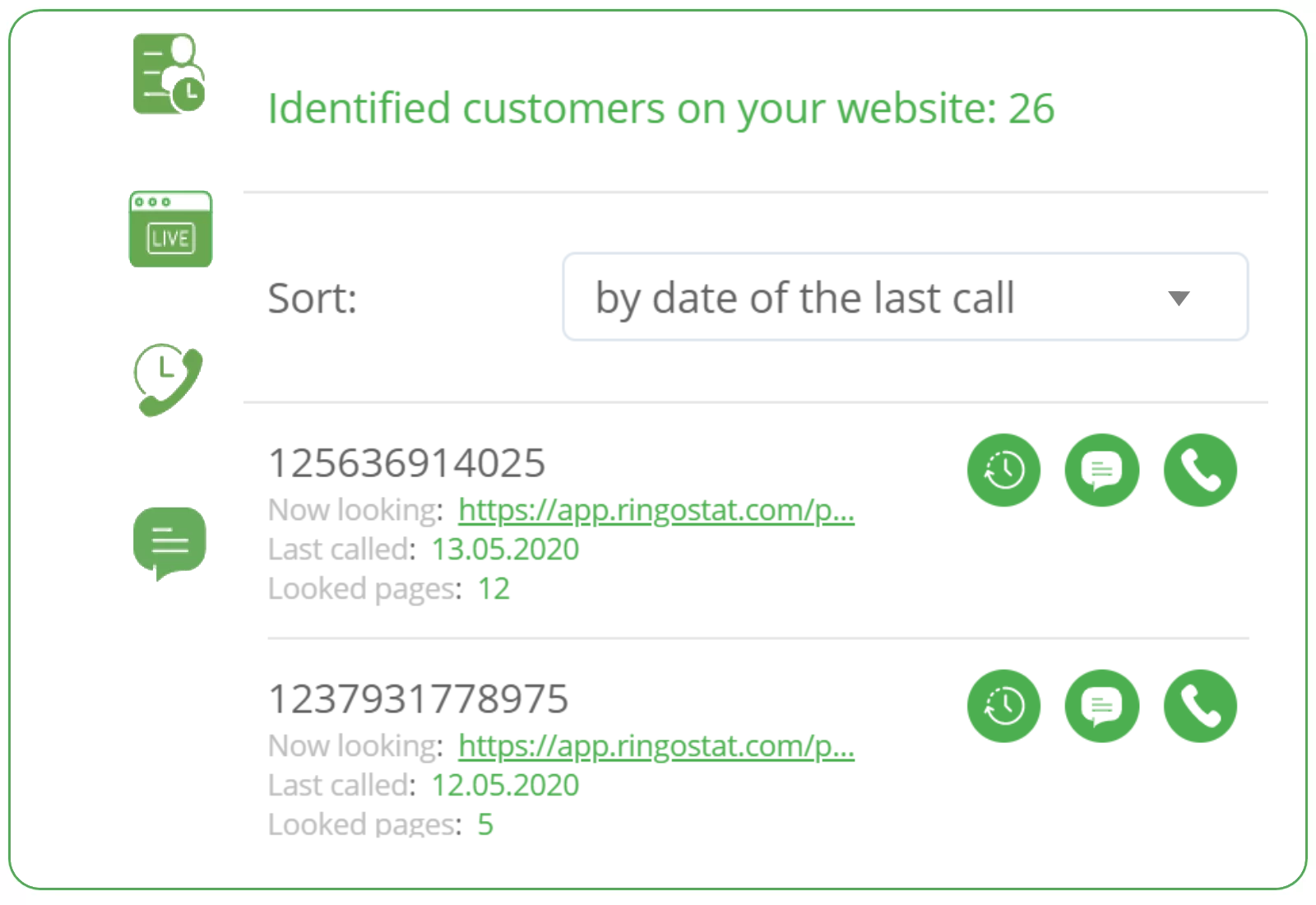 Ringostat Smart Phone updates