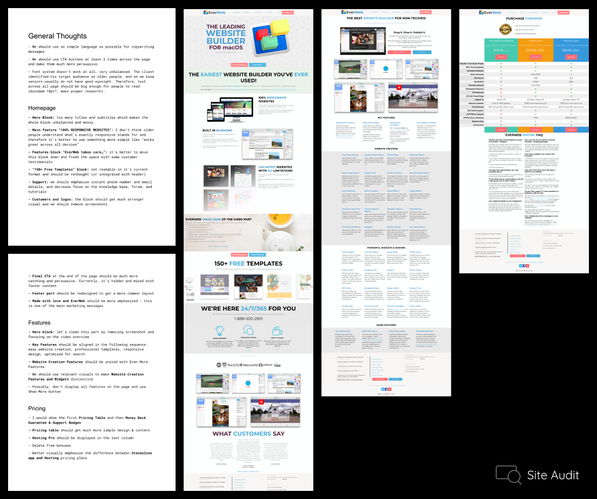 UX research website redesign case study