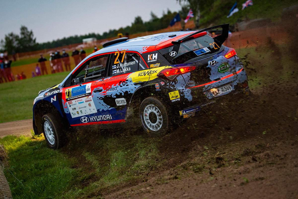 Яри Хуттунен и Микко Лукка, Hyundai i20 R5, ралли Эстония 2020