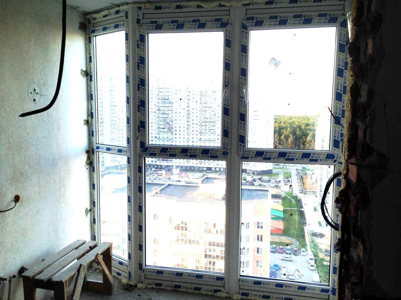 Остекление от пола до потолка 19 этаж Академический