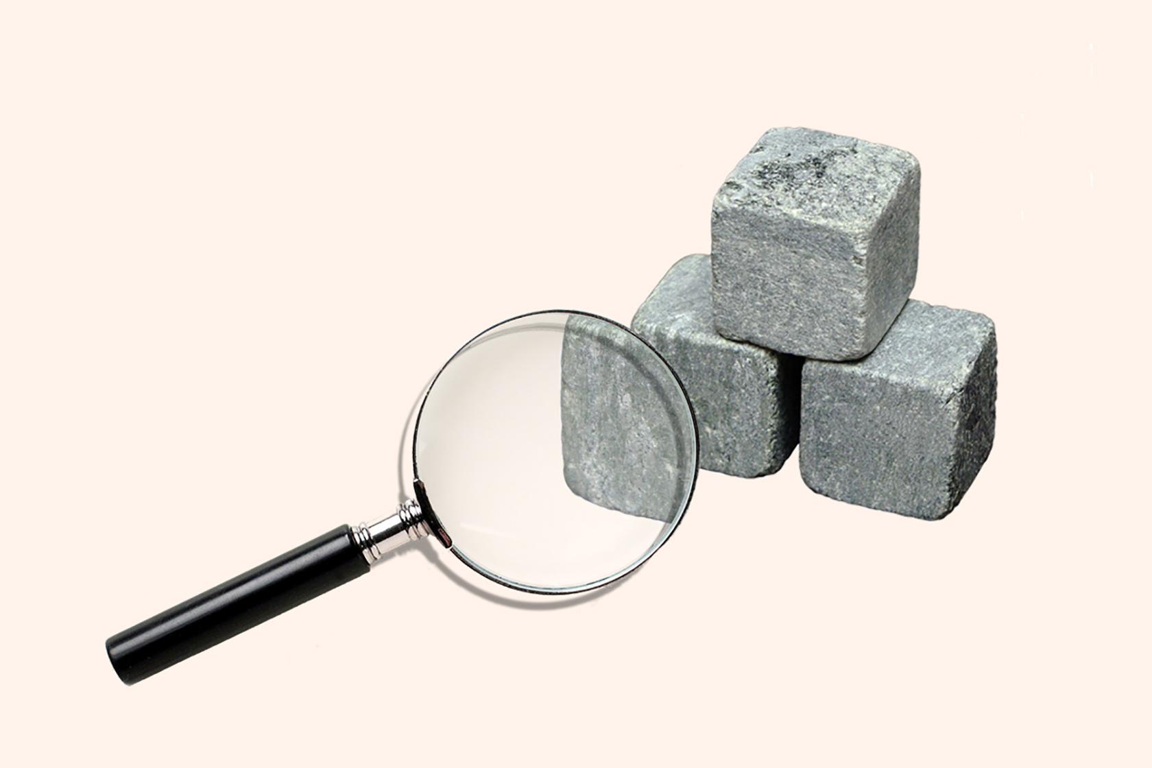 Структура каменів для віскі зі стеатиту