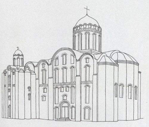Михайловский собор. Киев. Реконструкция.