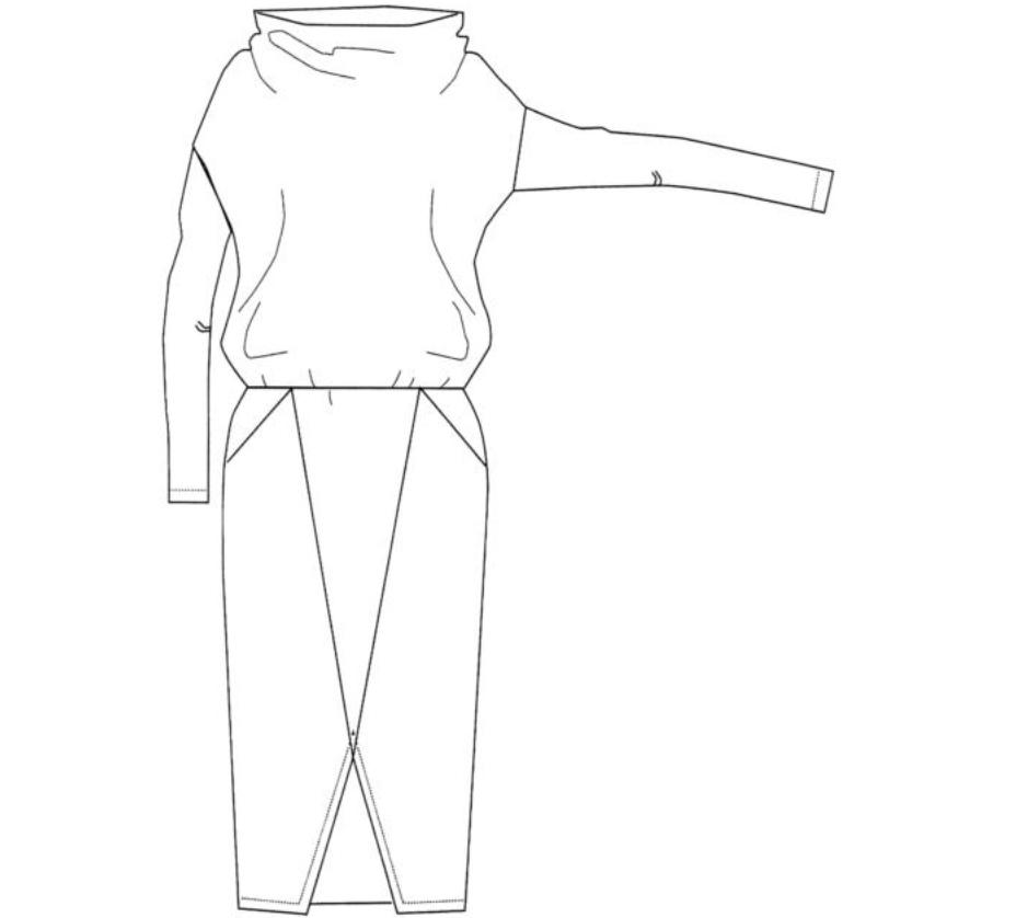 Дизайн одежды (платья) проекция 2.