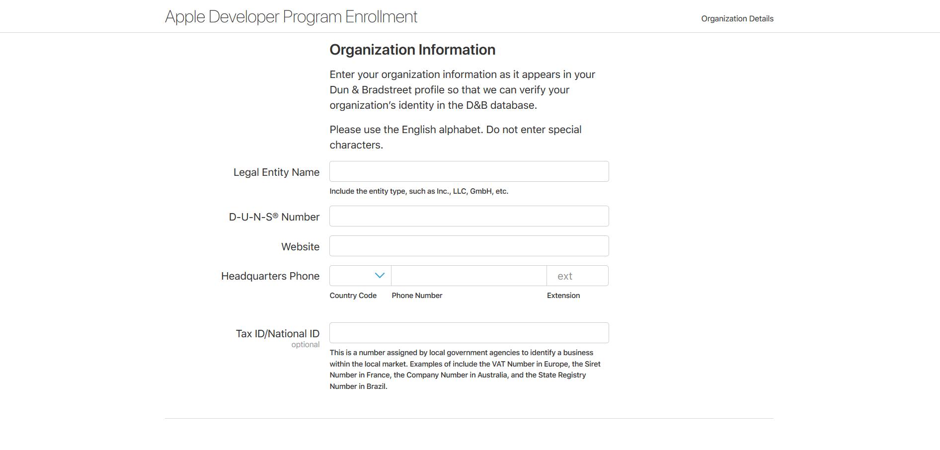 Регистрация аккаунта в App Store для компаний