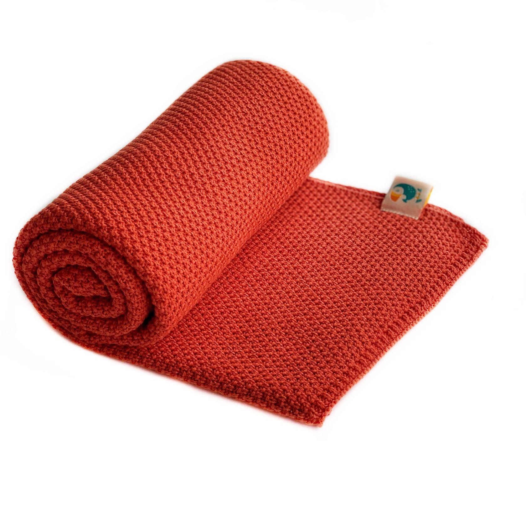 Хлопковый плед Mosaic шиповник купить в интернет-магазине toucankids.ru от производителя по низкой цене