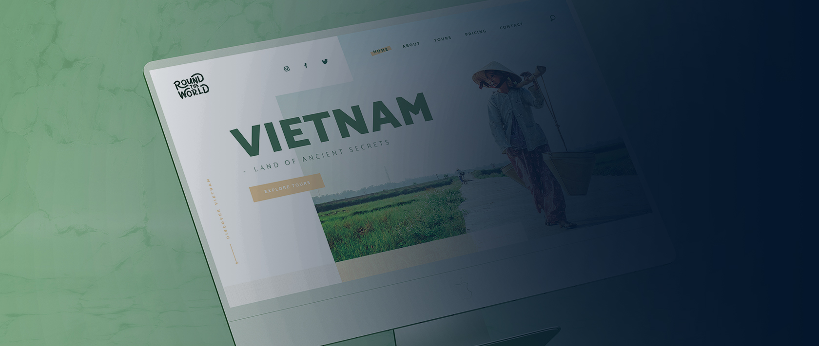 Branding en webdesign project Round The World