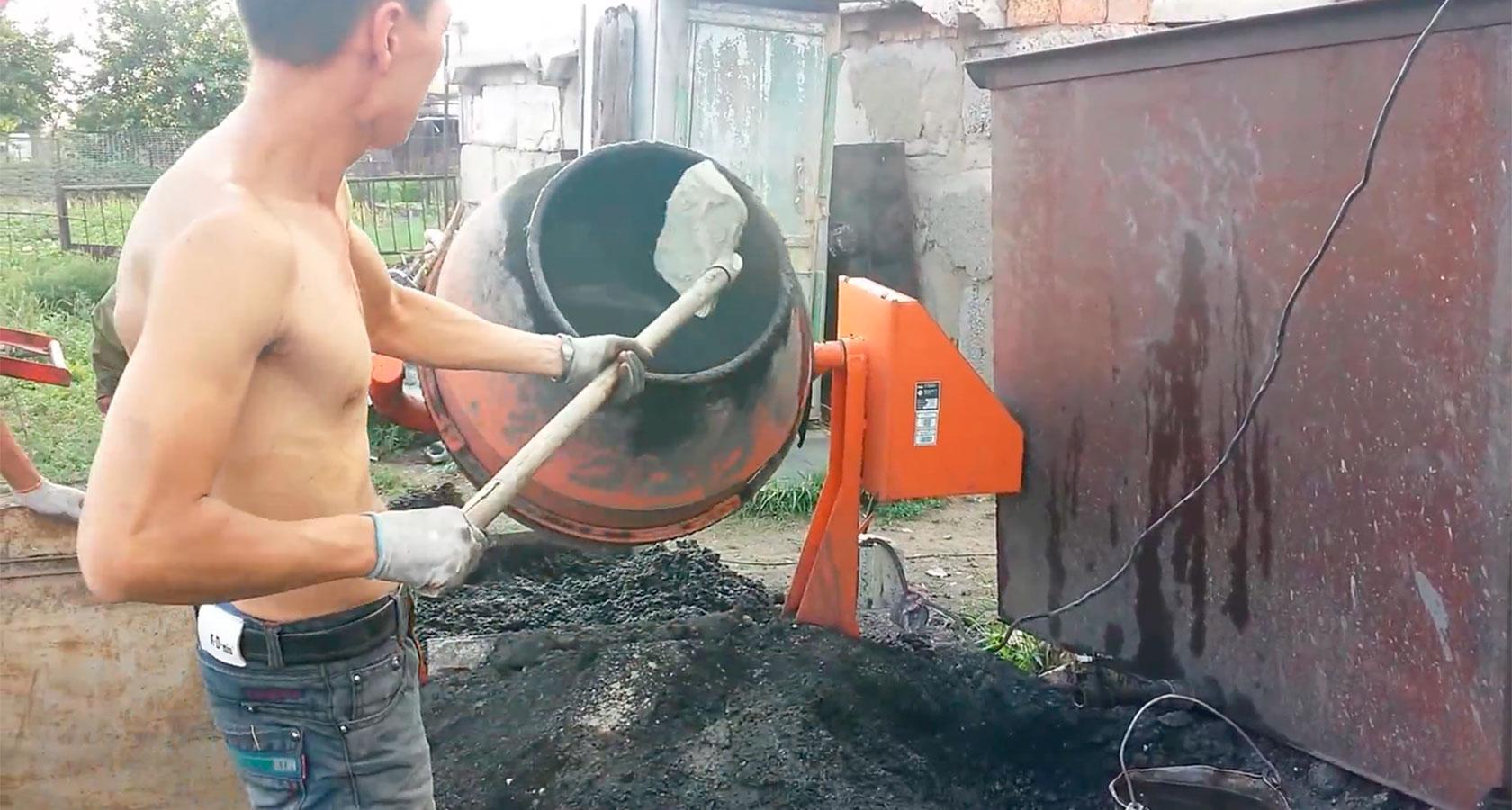 бетономешалка для шлакоблока