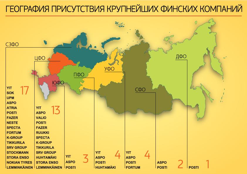 """инфографика """"Фонтанки"""", география присутствия крупнейших финских компаний"""