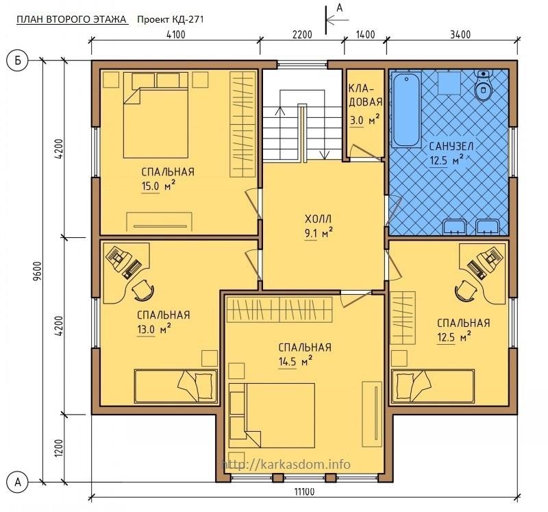 проекты домов 6 на 14 два этажа Уктузе для вашего