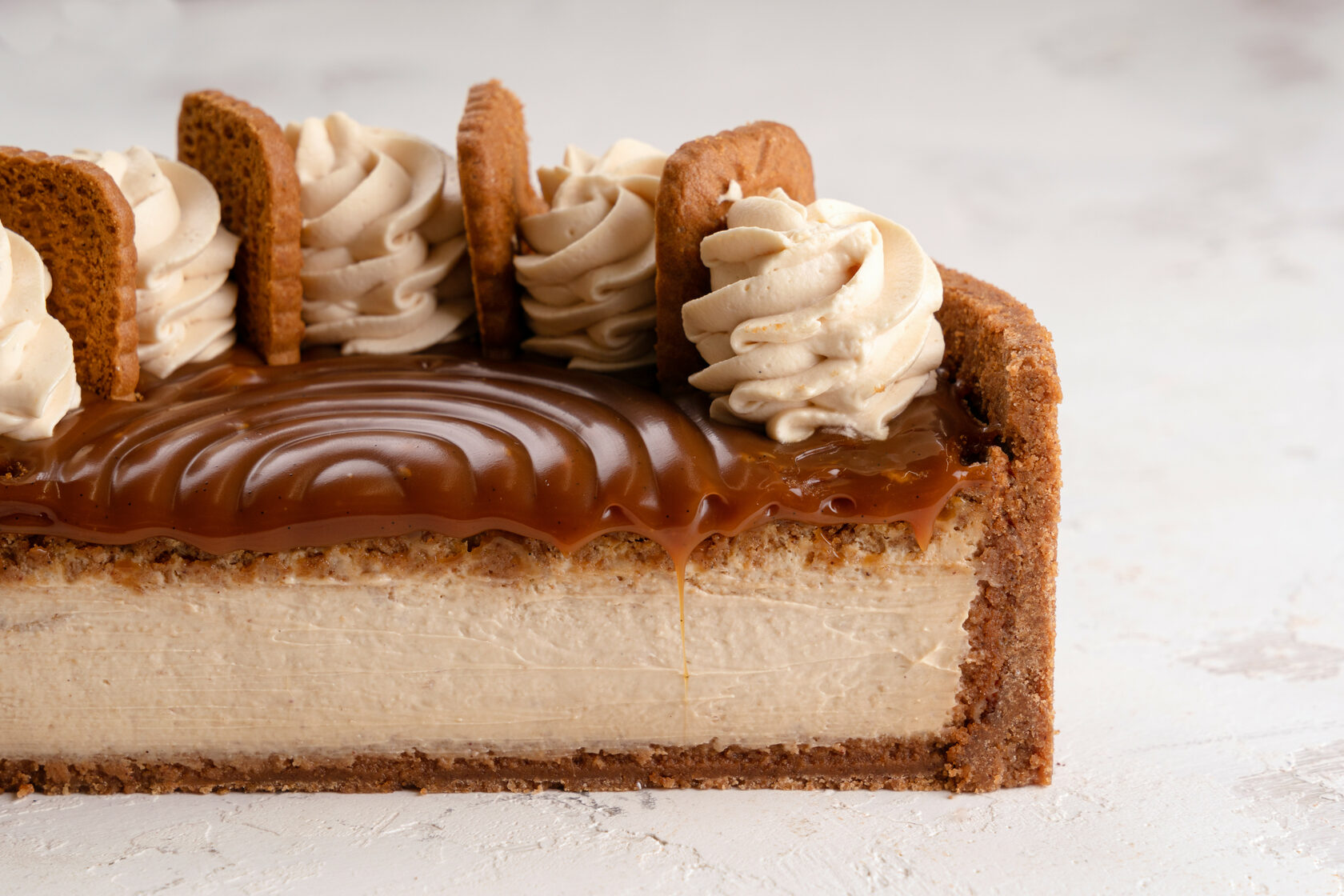 photo of speculoos cheesecake
