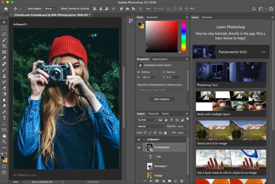 Обработка снимка в Фотошопе