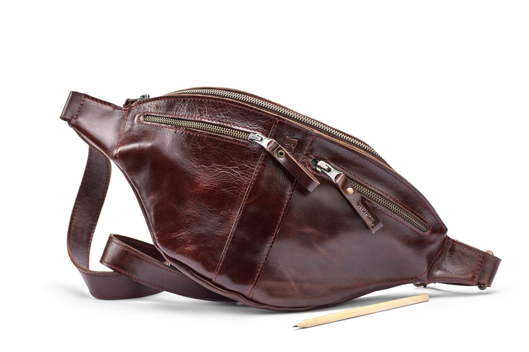 Шкіряна сумка CALZONE | Shuflia