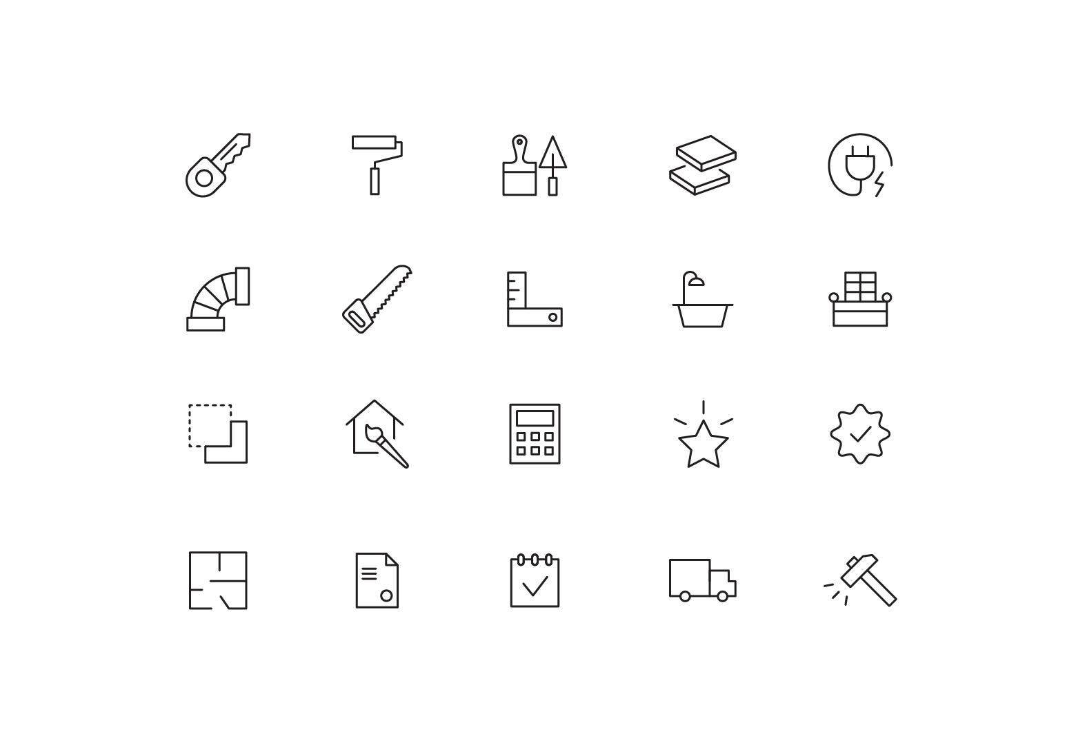 """Icons """"Renovation"""""""