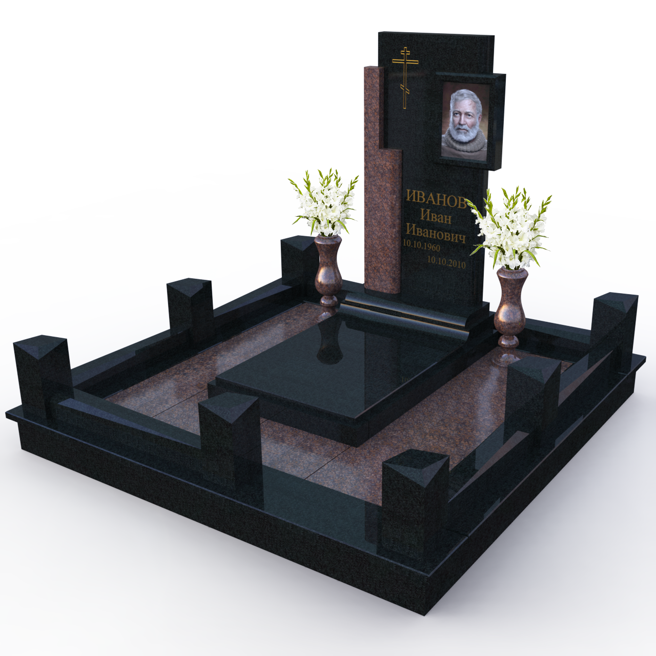 варианты надгробных памятников фото героя обусловлена выбором
