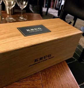 The display box that the Clos du Mesnil comes package in.