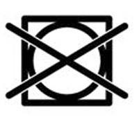 Знак, че сушенето на дрехите в сушилня е забранено