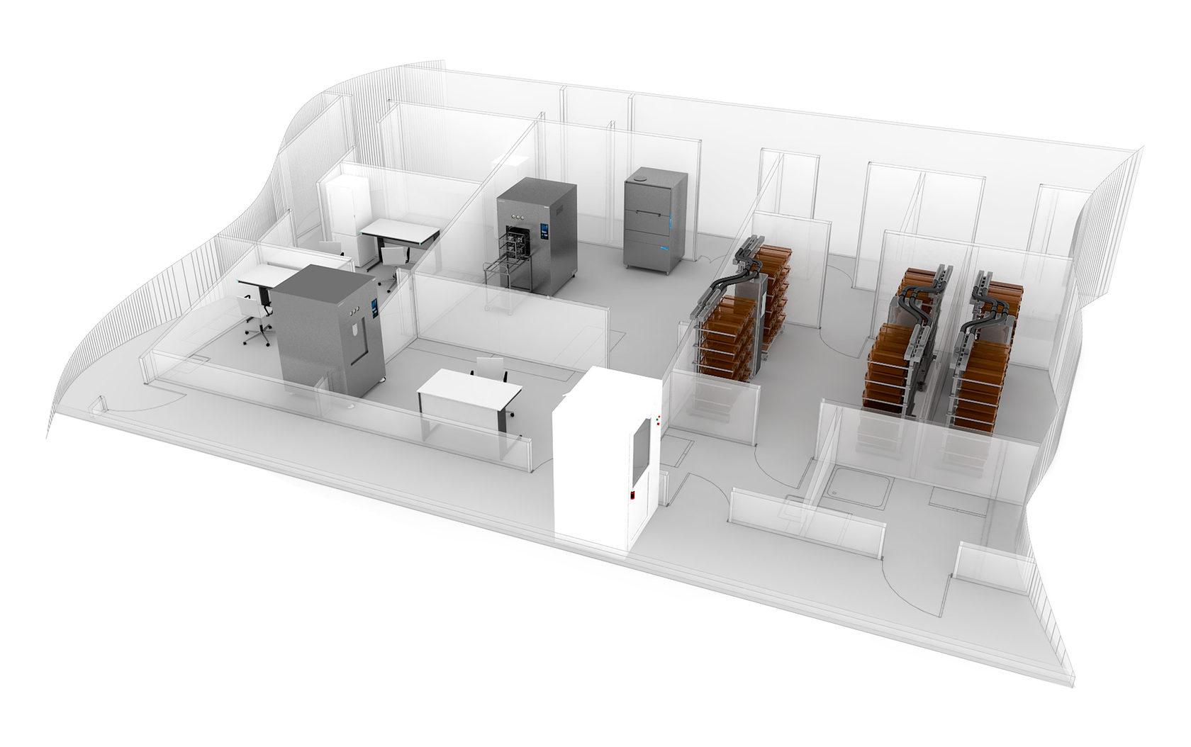 Модульные чистые зоны МАРС-1.  Готовое решение для зон манипуляций с лабораторными  животными