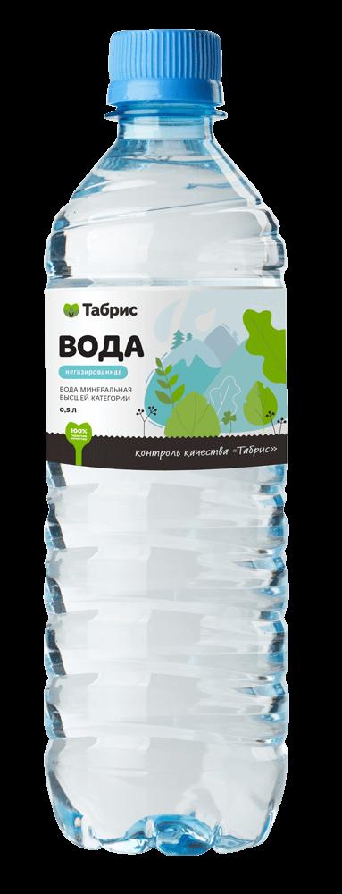 Дизайн этикетки воды СТМ супермаркета «Табрис»