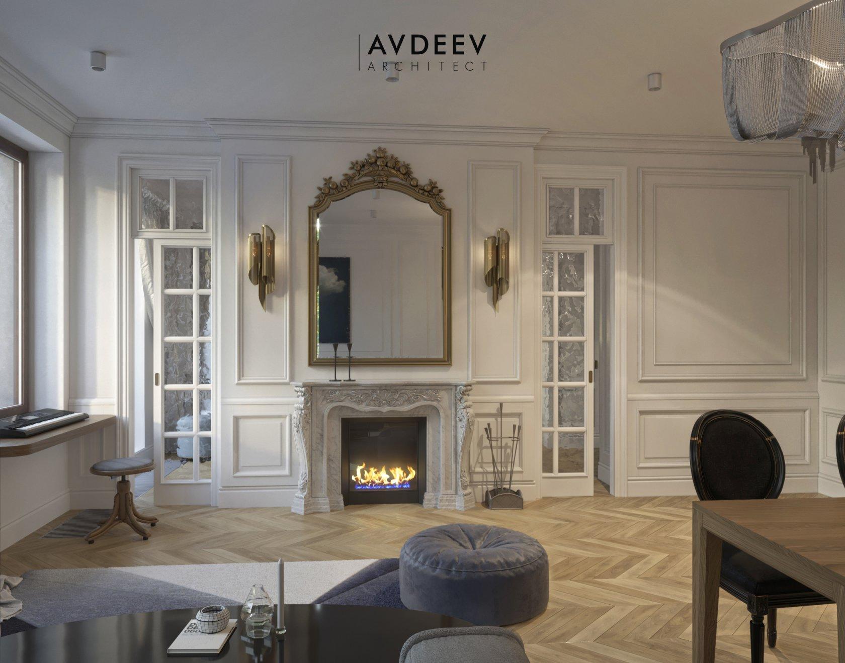 дизайн интерьера квартиры студия AVDEEV ARCHITECT