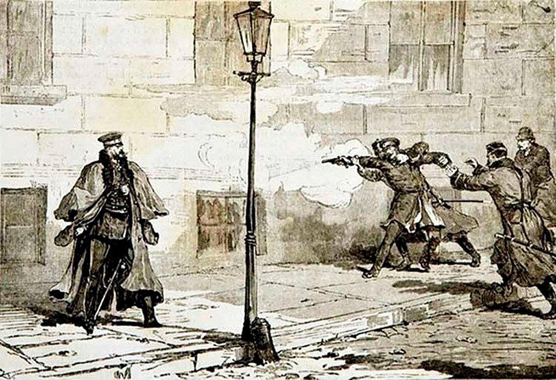 1879 год. Народоволец Соловьев гнался за Александром II по набережной Мойки, сделал пять выстрелов с близкого расстояния, но не попал