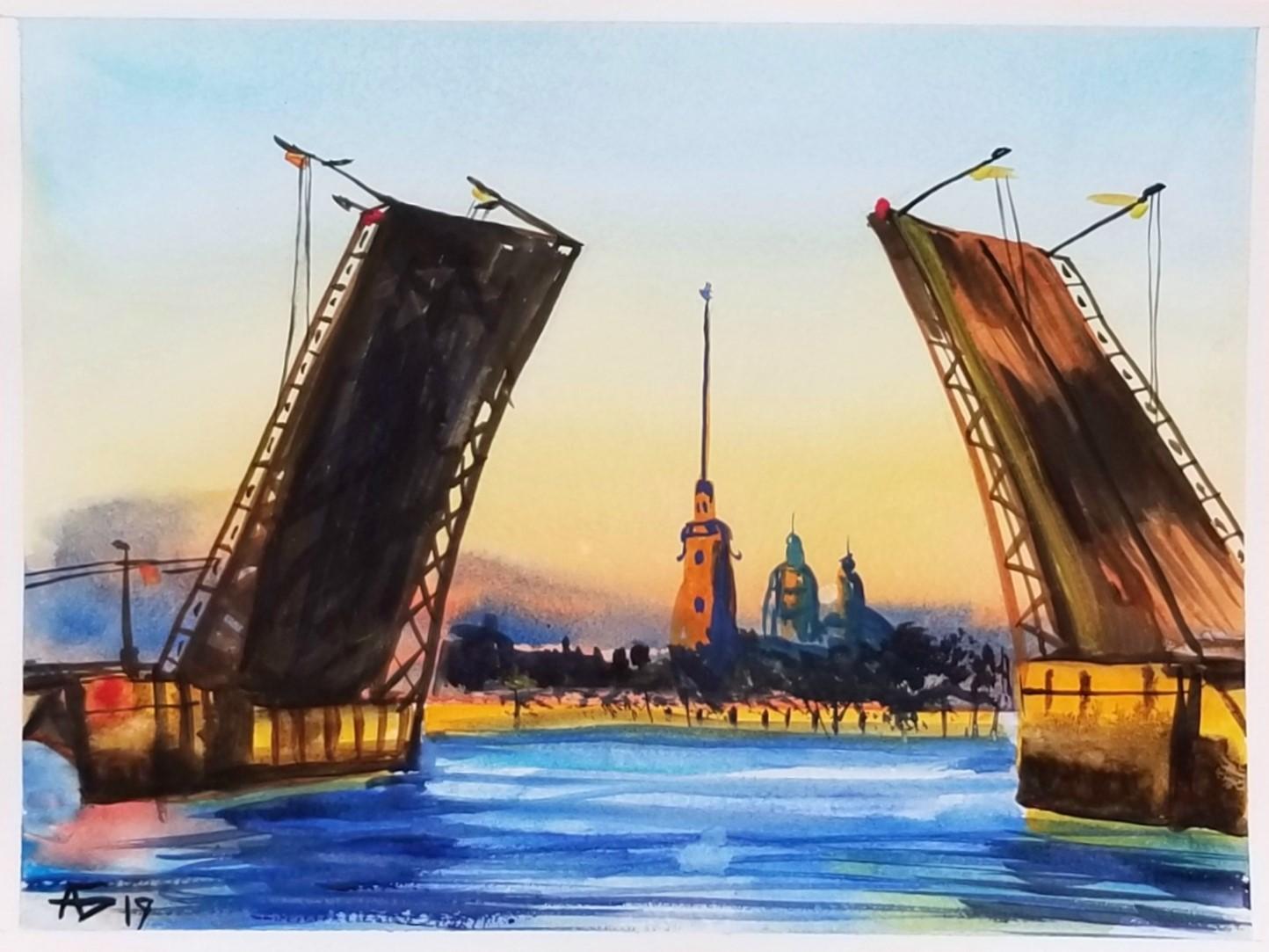 отчаянно санкт-петербург рисунки акварелью всего