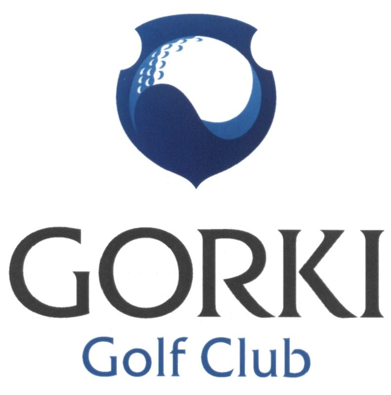 Элемент бренда компании GORKI Golf Club (в синем варианте)