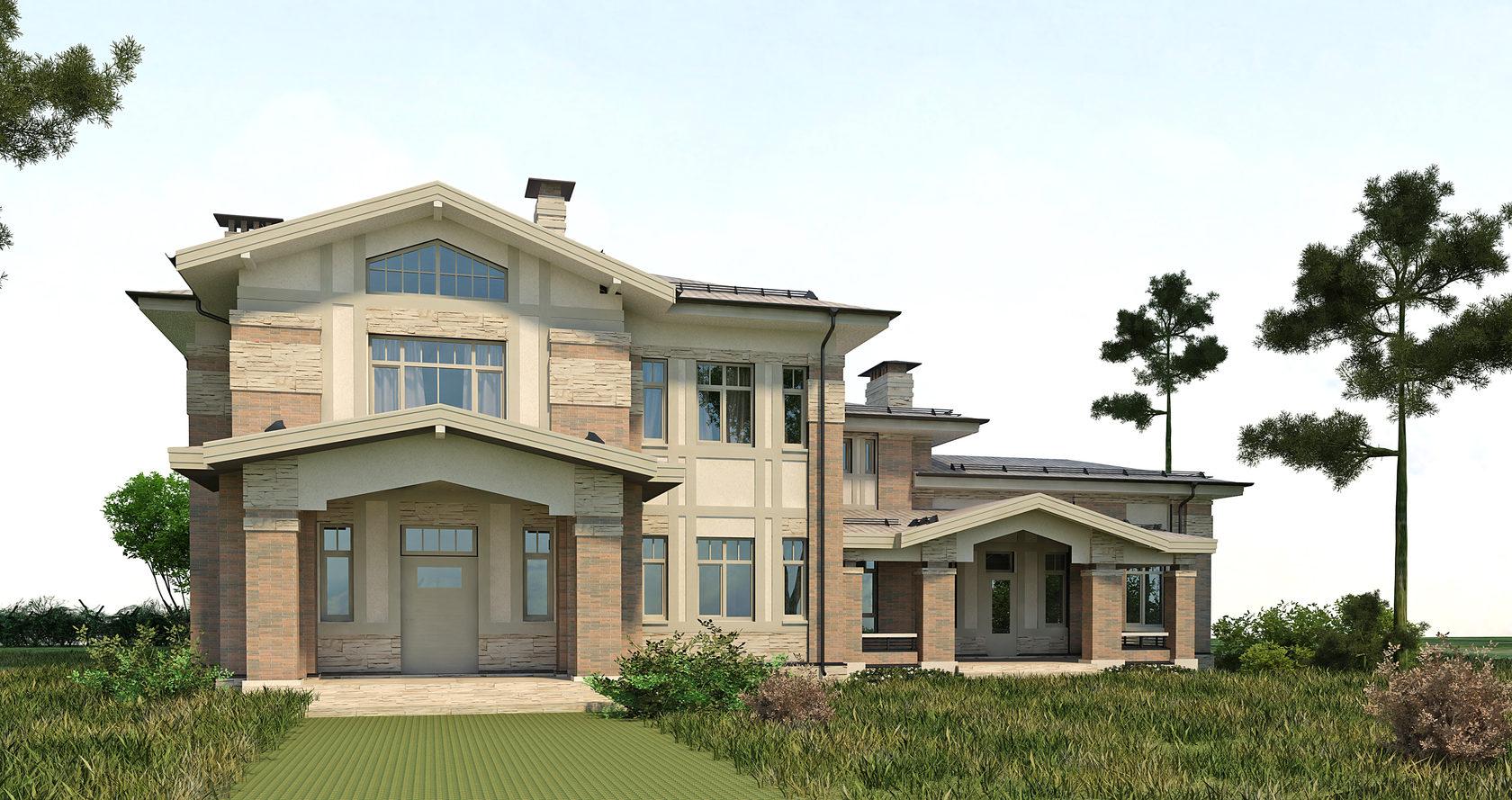 Двухэтажный дом в Казахстане