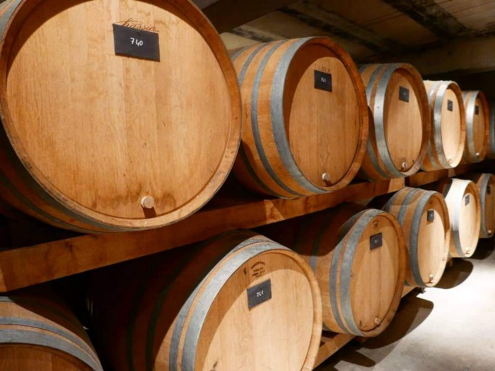 Oak barrels of Jacquesson with reserve wines