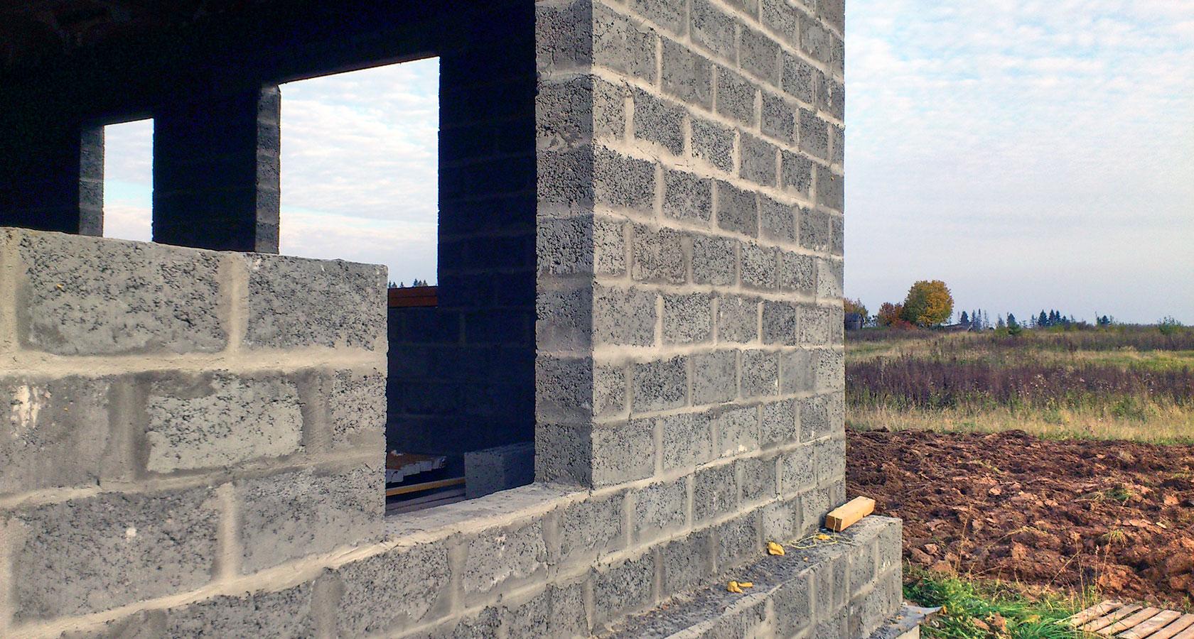 Дом в пол блока керамзитобетона бетон куб жуковский