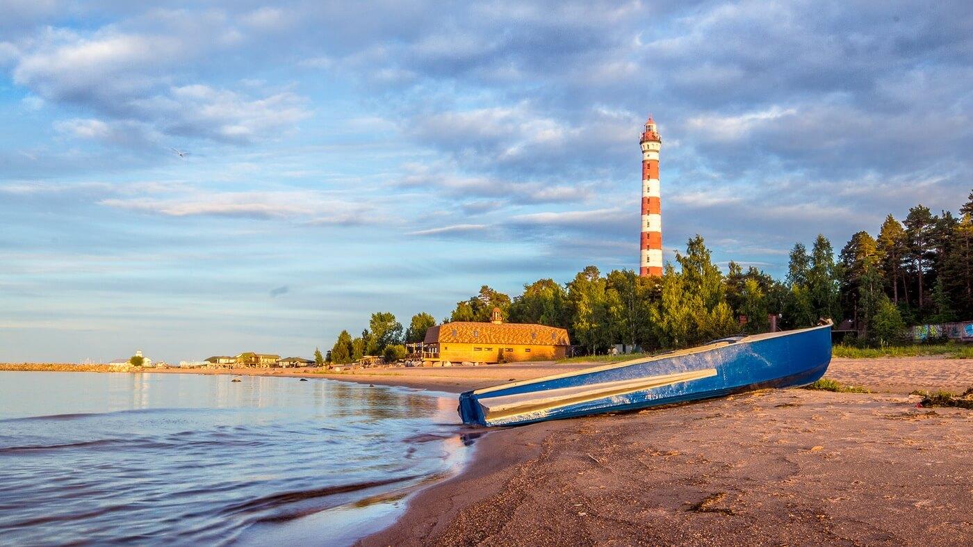 Ладожское озеро пляж Осиновец