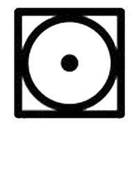 Знак на етикет за сушене на дрехи в сушилня с ниска температура