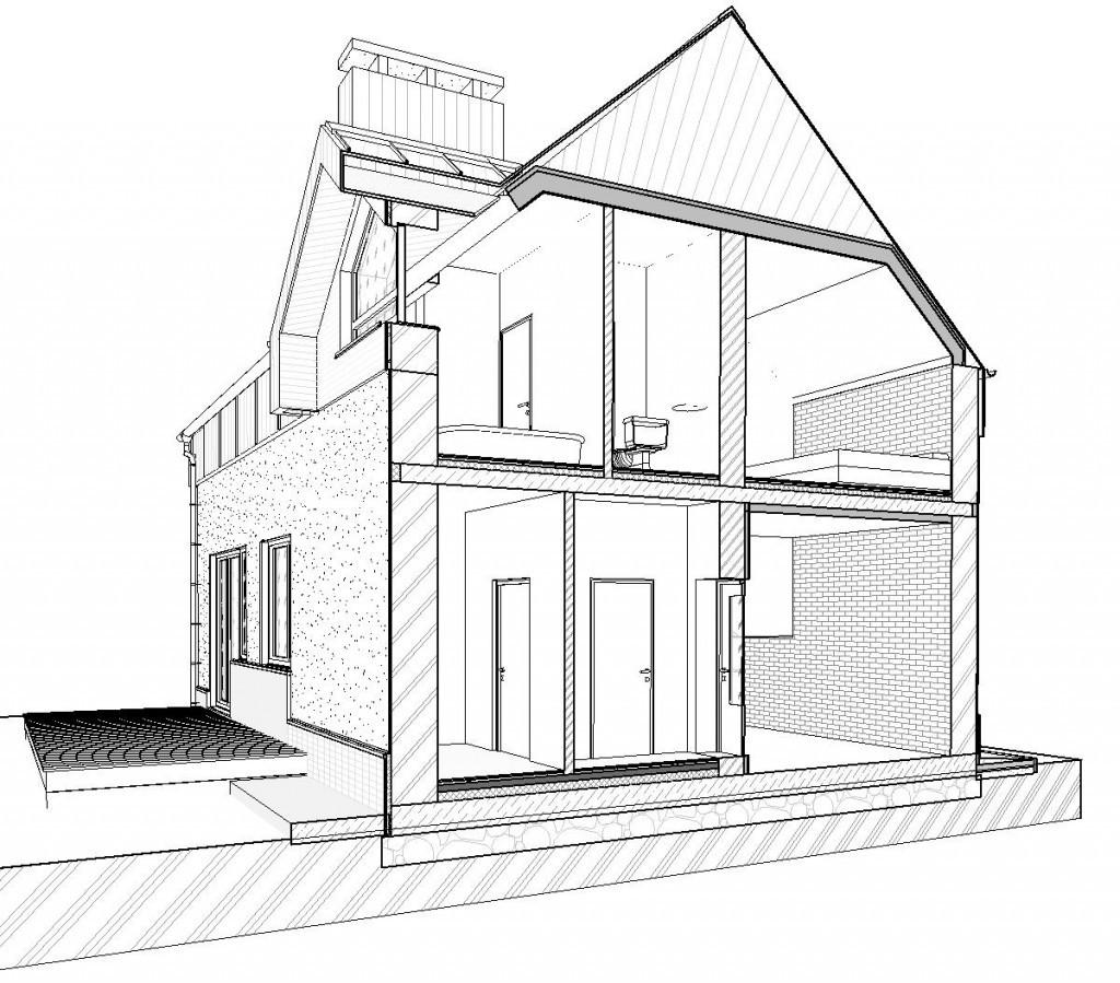 иметь чертеж дома и его реализация картинка его