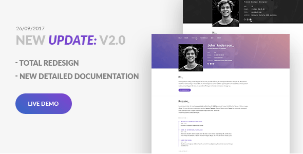 Great Update: SpirIT — Portfolio & Resume HTML Template for Developers, Programmers and Freelancers