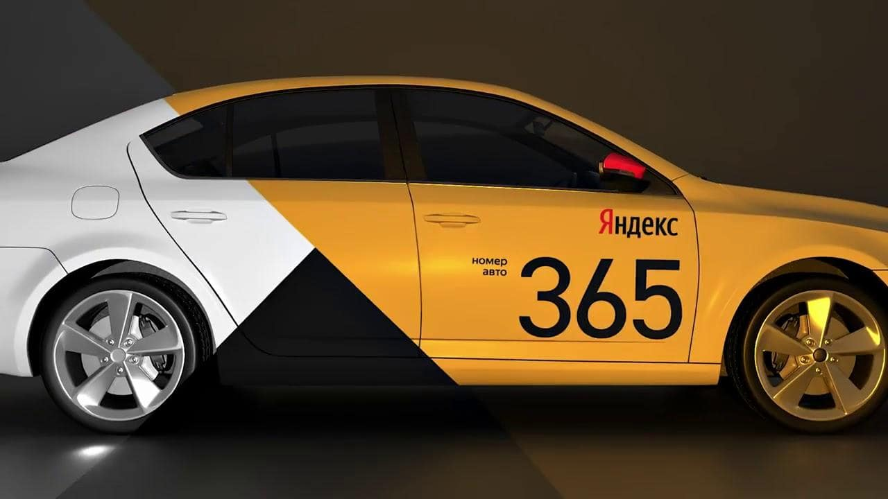 Комплект наклеек Яндекс такси (Не съемный комплект)