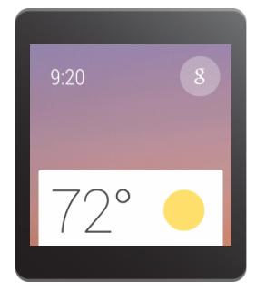 Карточка с подсказками OK Google на Android Wear