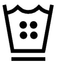 Символ на етикет на дреха, който означава, че артикула може да се пере с гореща вода до 60 градуса със специална програма на пералнята против намачкване