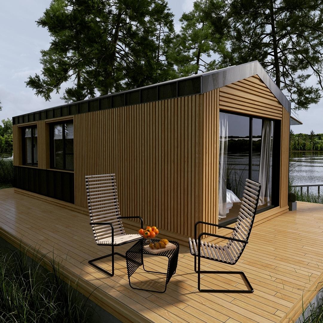 Модульный дачный домик фото
