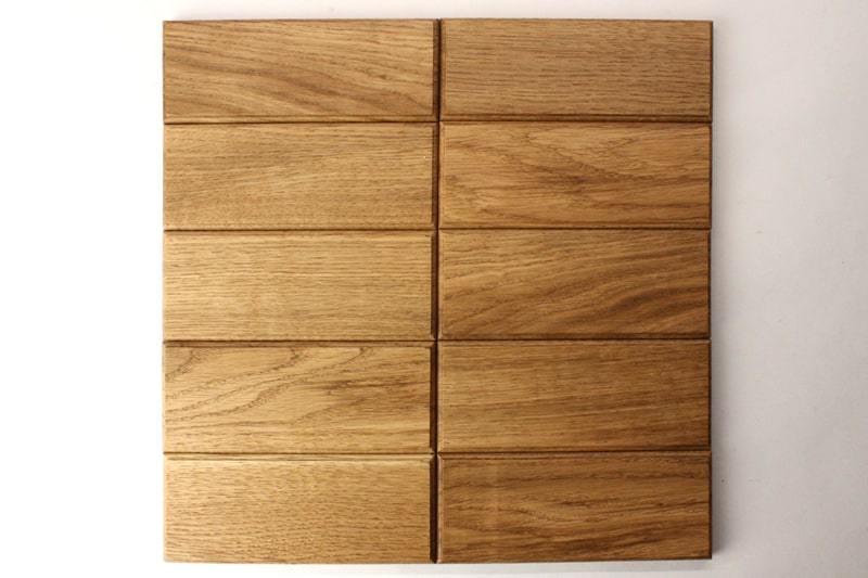 Деревянная плитка с фаской прямоугольной формы цвет натуральный