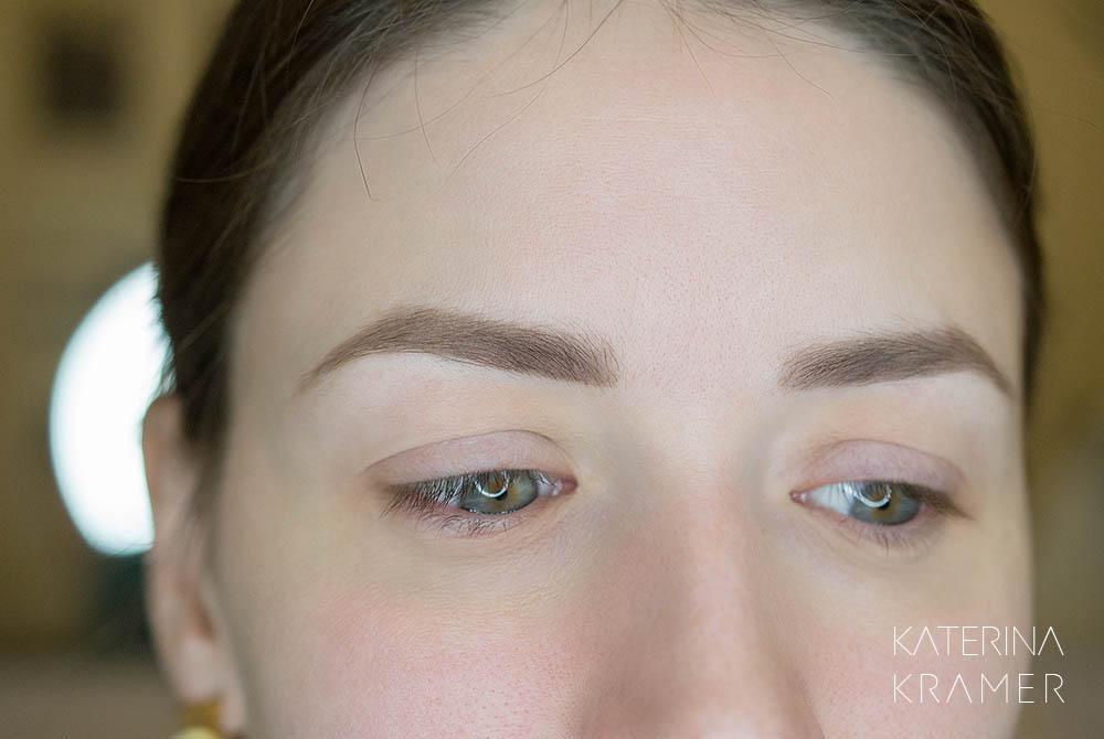 Заживший перманентный макияж бровей фото - Студия татуажа Катерины Крамер в Санкт-Петербурге