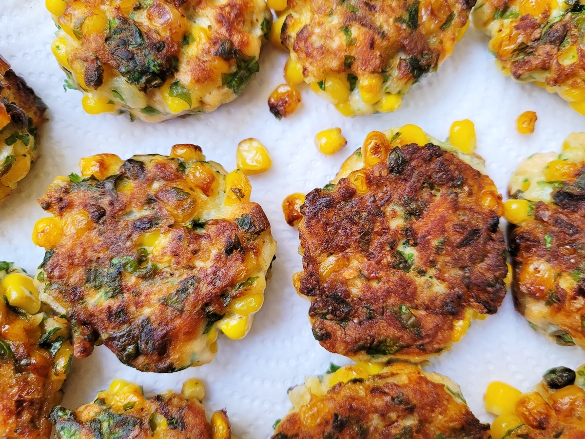 Кукурузные котлеты с семгой. Фото рецепт. Израильская кухня.