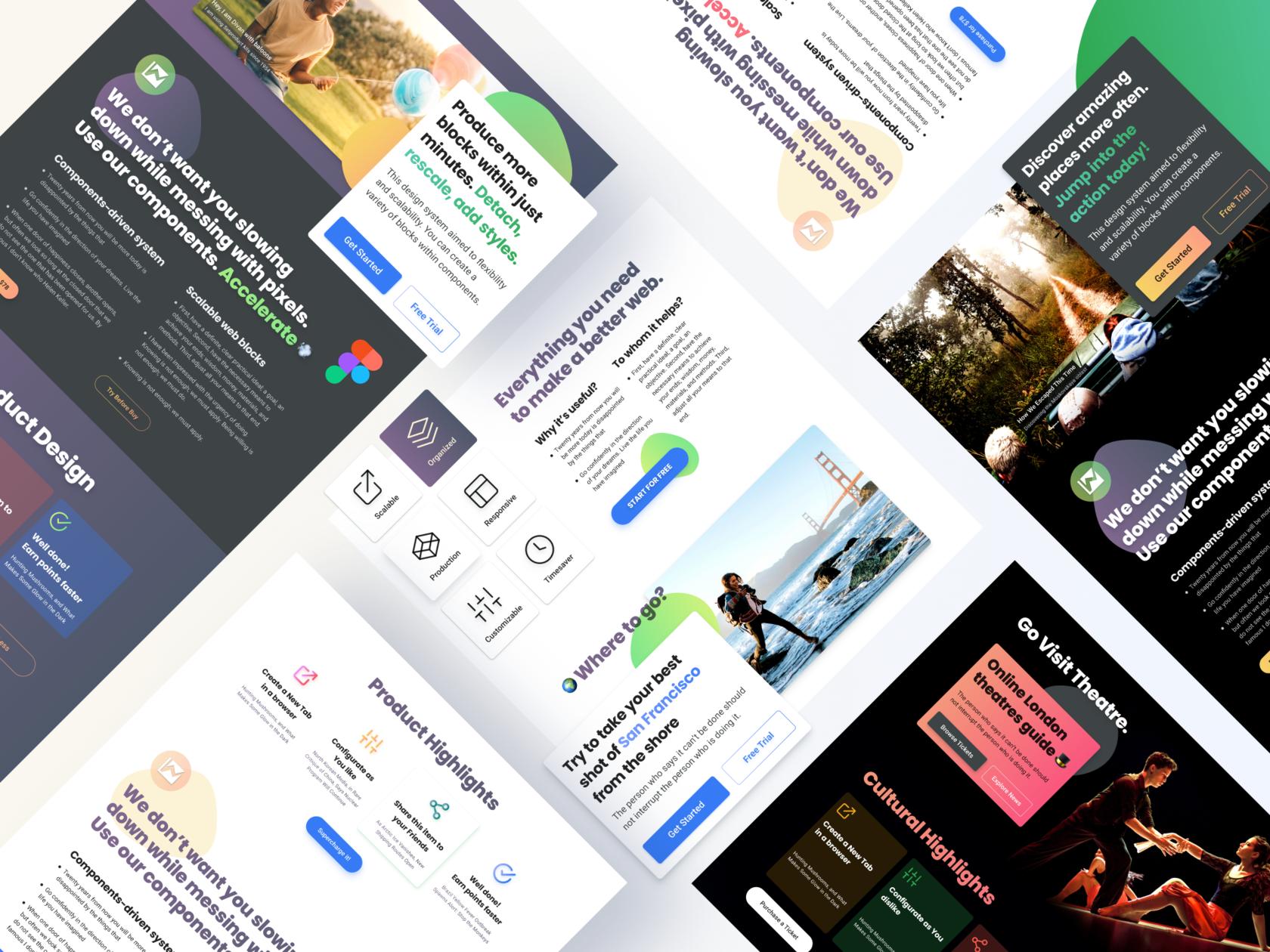 Figma Website Templates UI kit