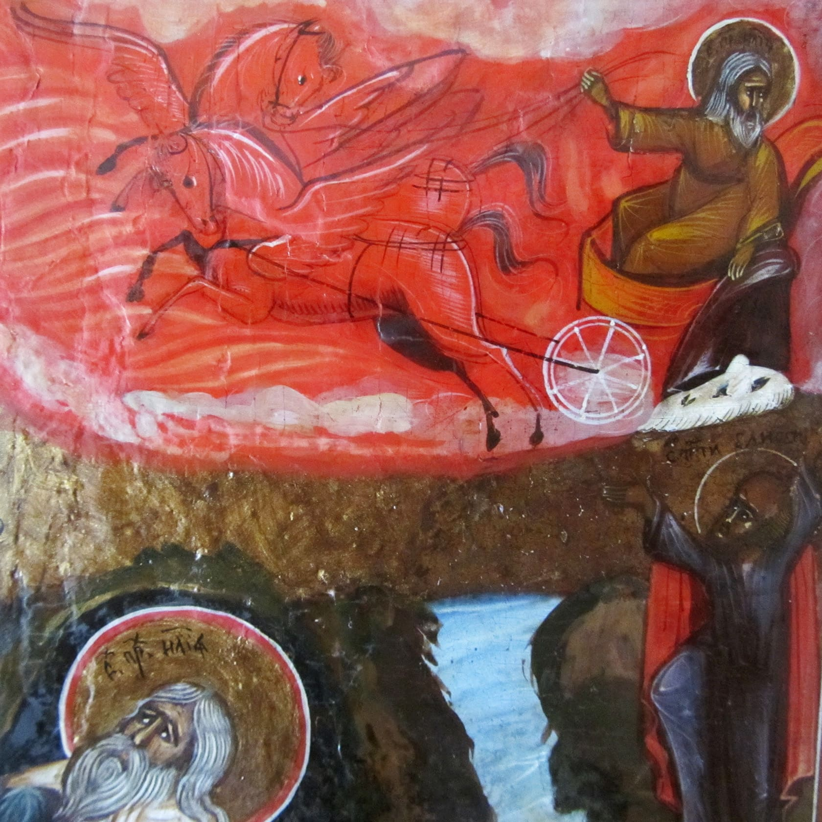 Реставрация икона, пророк Илия, реставрация деревянных икон, реставрация домашней иконы, реставрация иконы москва, реставрация иконы фото до и после