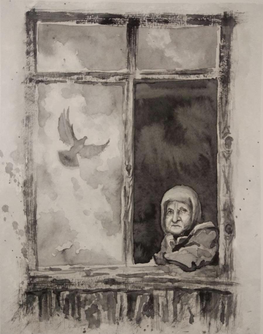 Корсунская Майя / тема «Одиночество» / акварель