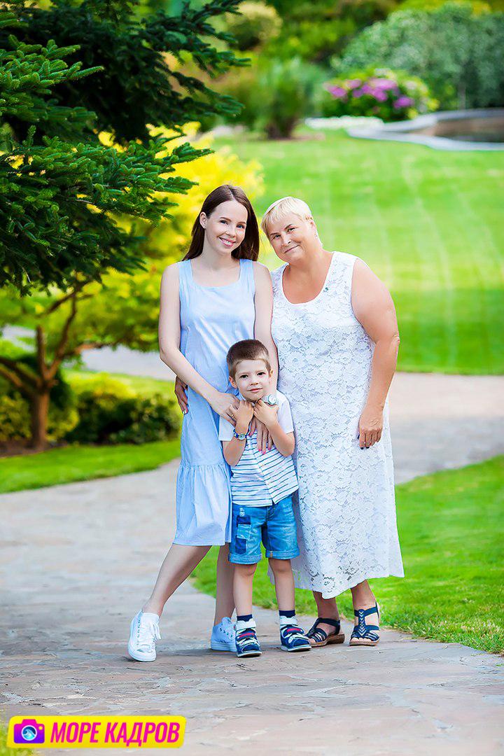 семейная фотосессия в парке Айвазовского в Партените