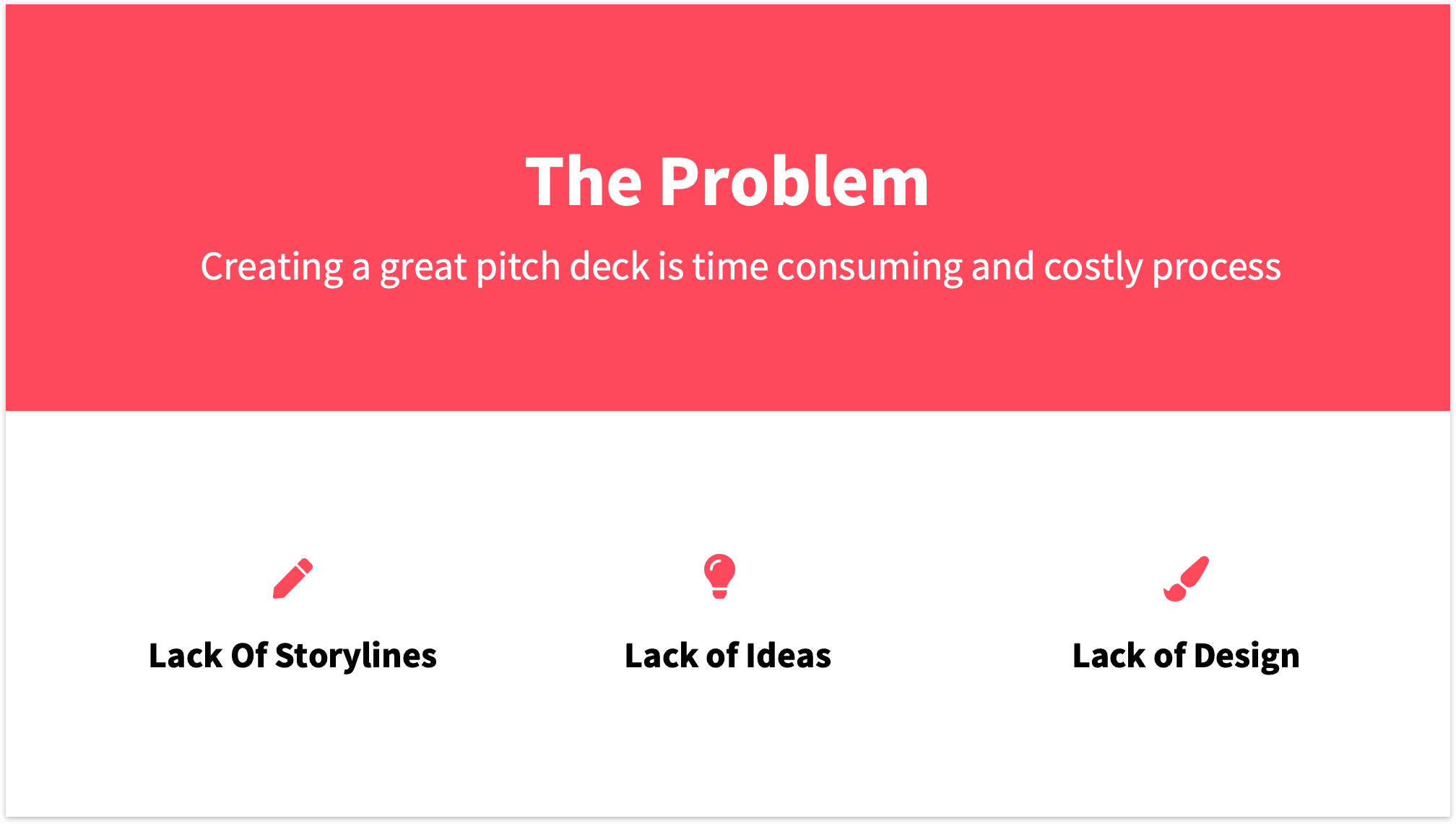 Image result for problem slide pitch deck