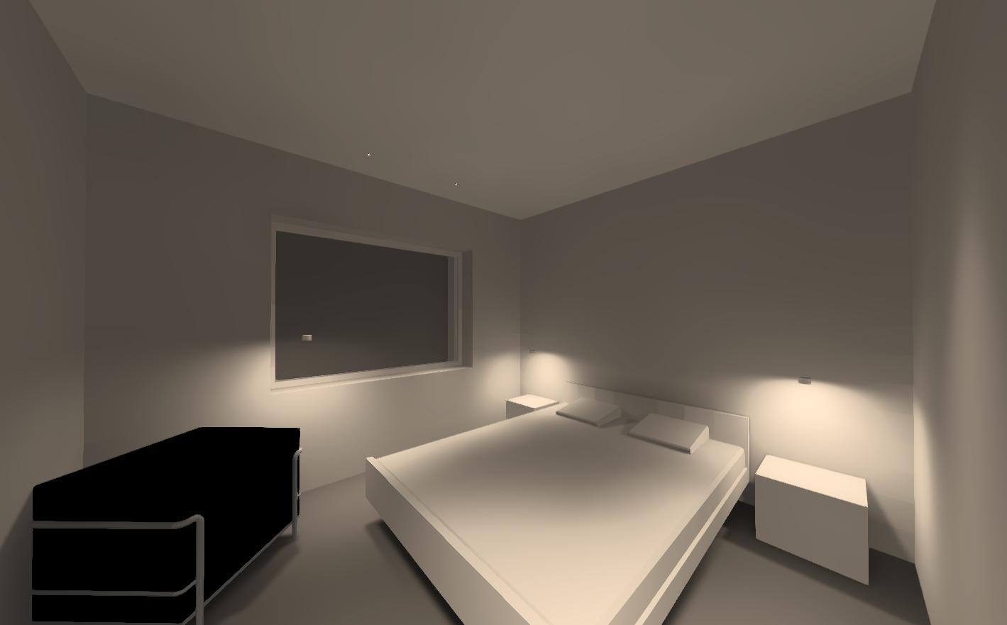 Визуализация освещения. Гостевая-спальня